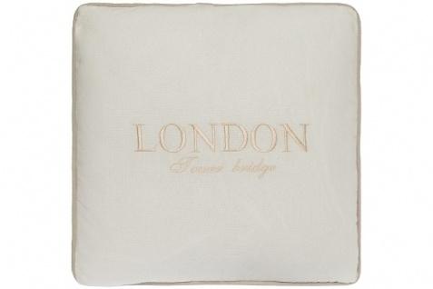 Kissen London Tower Bridge Baumwolle Weiß