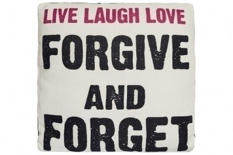 Kissen Live Laugh Love Baumwolle&Polyester Weiß