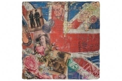 Kissen Union Jack Baumwolle&Polyester Bunt