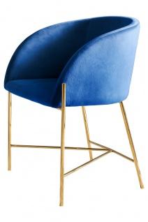Stuhl Metall und Polyester Blau