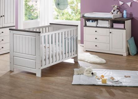 Babyzimmer 3tlg. Baby/Kinderbett Bettseiten Wickelkommode Kiefer massiv komplett