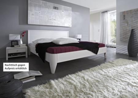 Bett Ehebett Überlänge Kiefer massiv weiß lackiert vielfältige Kombinationen