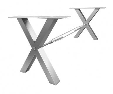 TOPS&TABLES Tischgestell Stahl Antiksilber