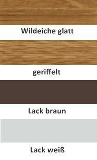 Garderobenset Dieleneinrichtung Lack weiß Wildeiche massiv geölt made in Germany - Vorschau 2