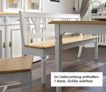 Bank Sitzbank Beistellbank Küche Esszimmer Fichte massiv weiß antik