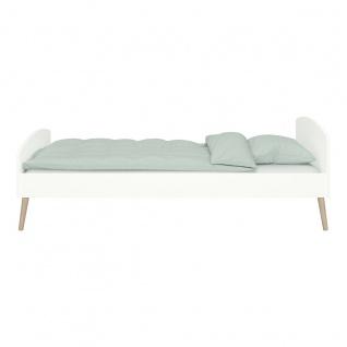 SOFT LINE Bett 90x200 MDF Weiß