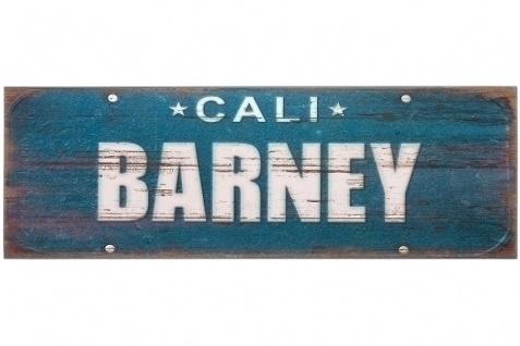 Holzschild Barney MDF Mehrfarbig