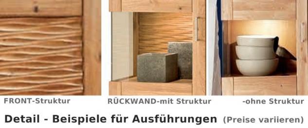 Highboard Sideboard Schrank Vitrine Wohnzimmer Esszimmer Wildeiche geölt - Vorschau 2