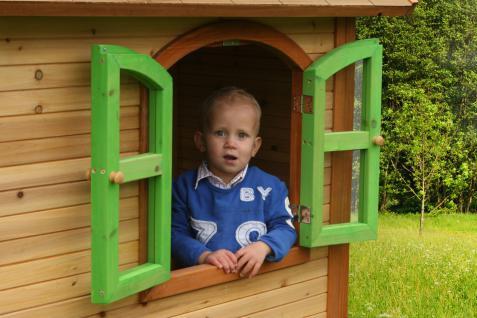 Spielhaus Spielhütte Gartenhaus für Kinder Holzspielhütte TÜV geprüft sicher - Vorschau 4