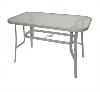 Tisch 120 x 70 cm Stahl Glas Silber