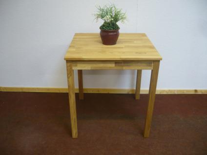 Esstisch Esszimmertisch Küchentisch Tisch 70x70 cm Wildeiche massiv geölt