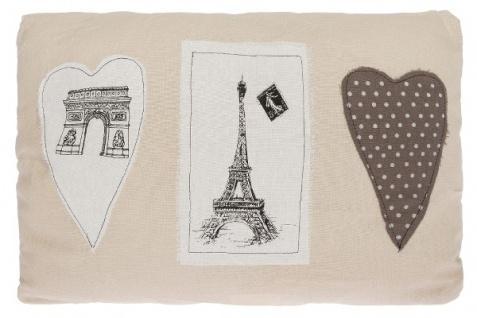 Kissen Paris Love Baumwolle Beige