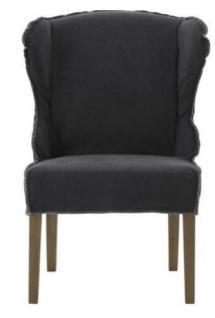 Stühle 2er Set Sessel Stuhlsessel Polster stonewashed reinigungsfähig anthrazit