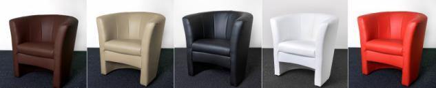Sessel Cocktailsessel Clubsessel Lounge Kunstleder creme schwarz rot braun weiß