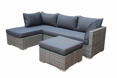 Lounge-Set Lounge Gruppe Gartengruppe Gartenmöbel Kunststoffgeflecht hellgrau