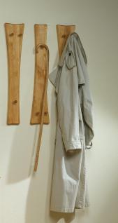 Hakenleisten 3er Set Garderobenhaken Kleiderhaken Massivholz Birke hell massiv geölt
