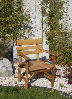 Knüppelholzsessel Gartensessel Gartenmöbel Sessel Eiche Armlehnsessel massiv