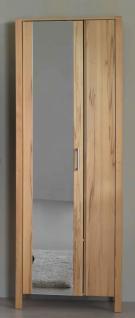 Dielenschrank Spiegel Kleiderstange ausziehbar Kernbuche massiv modern - Vorschau