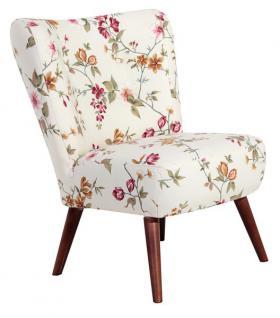 Stuhlsessel Sessel Stuhl Retro Landhaus Blumen Print florale Muster