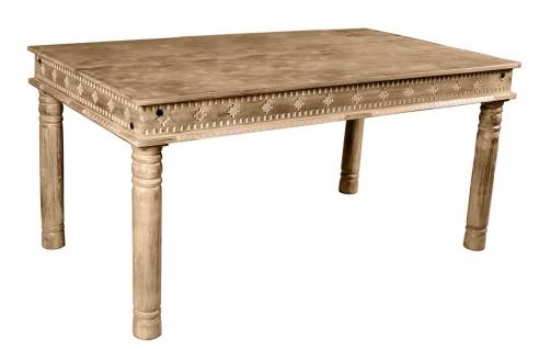 LAKADEE Tisch Mangoholz 140x70 cm Natur