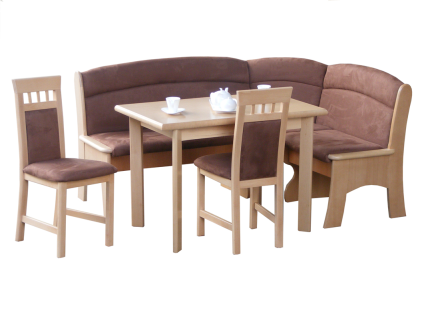 Eckbankgruppe Eckbank Stühle Tisch Auszug Buche teilmassiv Echtholz Furnier