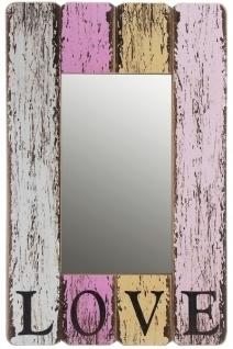Holzspiegel Love MDF Mehrfarbig