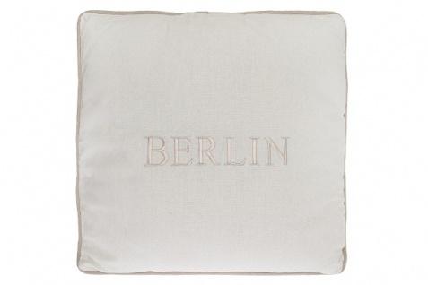 Kissen Berlin Baumwolle Weiß