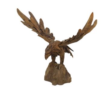 Adler Figur Skulptur Small Teakholz