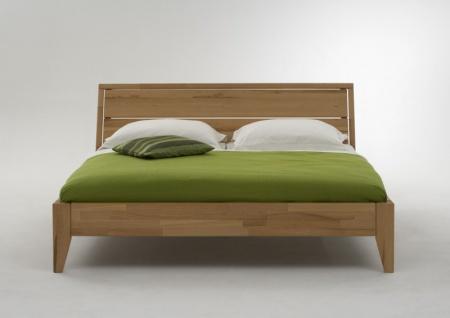 Bett Doppelbett Kernbuche massiv geölt Bettsystem Massivholz Variantenvielfalt