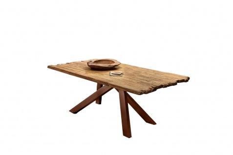 TABLES&Co Tisch 240x100 Teak Natur Metall Braun