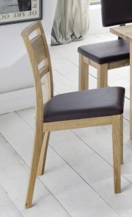 Stuhl Set Stühle Sitz Polstersitz Esszimmerstuhl Eiche massiv geölt - Vorschau 1