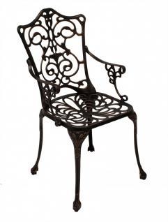 Gartensessel Gartenstuhl Stuhl Metallstuhl Aluminiumguss bronze Jugendstil