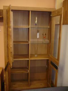 Wohnwand Kombination Wohnzimmer Set Wildeiche massiv natur oder bianco geölt - Vorschau 2