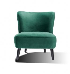 Sessel Holz und Polyester Seegrün