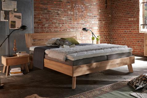Bett Doppelbett Holzbett Massivholzbett Eiche Buche versch. Größen Bettgestell