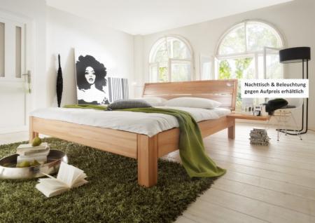 Bett Doppelbett massive Kernbuche Überlänge möglich modern