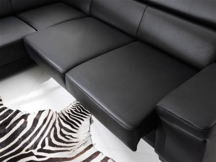 Garnitur Polsterecke Eckgarnitur Ledergarnitur Couch Funktionssofa schwarz Leder W1 - Vorschau 4