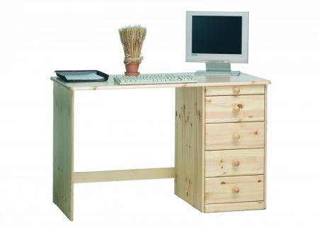 Schreibtisch Bürotisch Arbeitstisch Computertisch Kiefer massiv natur lackiert - Vorschau