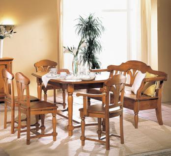 Tischgruppe Sitzgruppe Esszimmer Fichte massiv mediterran romantik Landhausstil