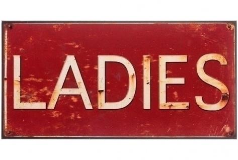 Metallschild Ladies Mehrfarbig
