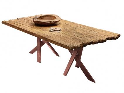 TABLES&CO Tisch 180x100 Teak Natur Metall Braun