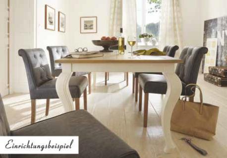 Esstisch Küchentisch Tisch 160 Pinie Wildeiche massiv geölt antik weiß barock - Vorschau 2