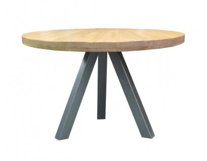 TISCHE&BÄNKE Tisch 120x120 Mango Metall Natur Antikschwarz