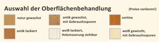 Schrank Kleiderschrank Fichte massiv 2-trg Landhausstil lackiert mediterran - Vorschau 2