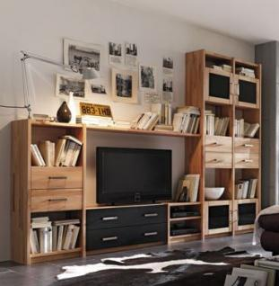wohnwand kernbuche massiv ge lt g nstig bei yatego. Black Bedroom Furniture Sets. Home Design Ideas