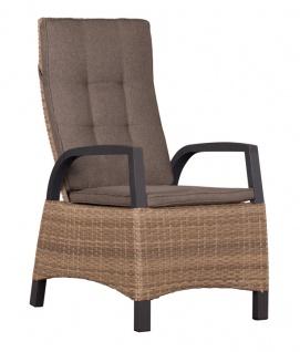 Relaxsessel Sessel Metall Polyethylen Braun