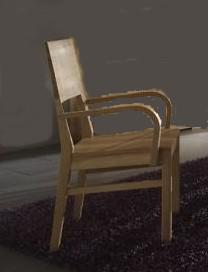 Stuhl Sitz Sitzgelegenheit Kernbuche massiv Holzsitz mit Lehne 2 Stück geölt - Vorschau