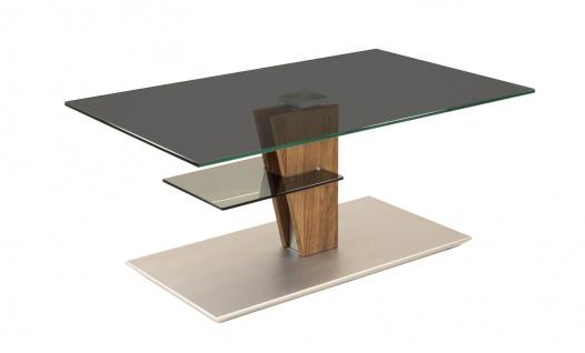 Couchtisch Beistelltisch Glas, Holz und Metall 60x100 cm