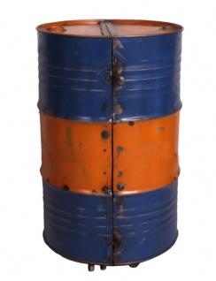 DRUMLINE Barschrank Reyceltes Metall Orange/Blau