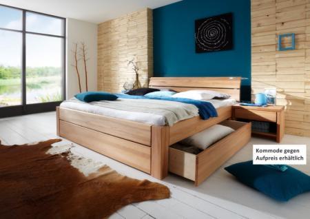 Schubladenbett Schubkasten Bett Doppelbett Kernbuche massiv Variantenvielfalt